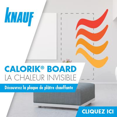 Knauf Calorik Board - La chaleur invisible